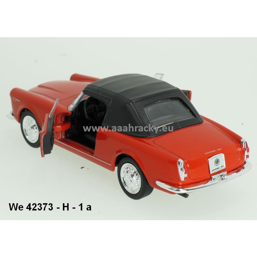 Welly 1:34-39 Alfa Romeo 1960 Spider 2600 Soft Top (red